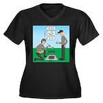 Grilled Panc Women's Plus Size V-Neck Dark T-Shirt