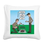 Grilled Pancakes Square Canvas Pillow