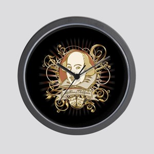 Shakespeare Crest Wall Clock