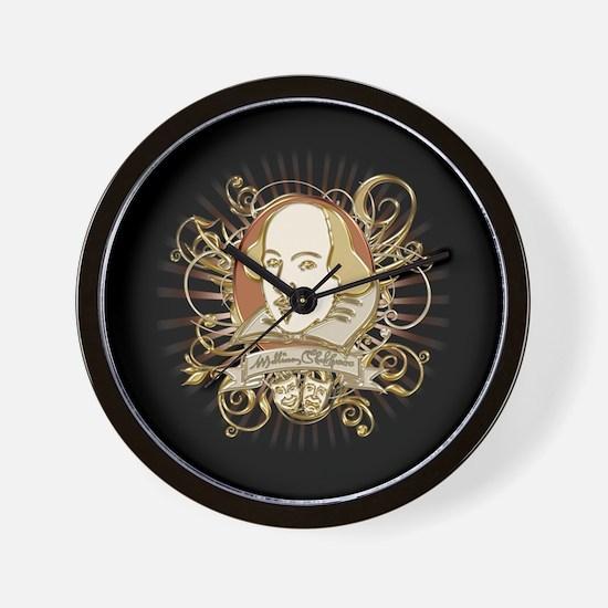 Shakespeare Crest Wall Clock