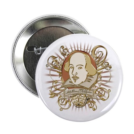 """Shakespeare Crest 2.25"""" Button (100 pack)"""