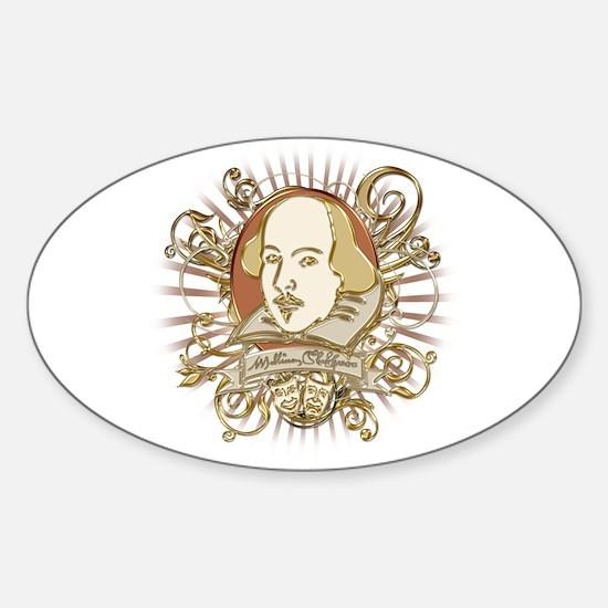 Shakespeare Crest Sticker (Oval)
