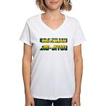 Brazilian Jiu Jitsu Women's V-Neck T-Shirt