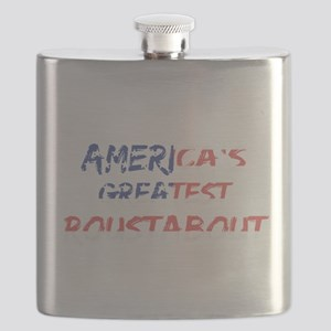 America's Greatest Roustabout Flask