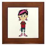 Cute Little Emo Punk Girl Framed Tile