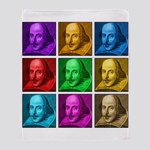 Shakespeare Pop Art Throw Blanket