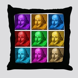 Shakespeare Pop Art Throw Pillow