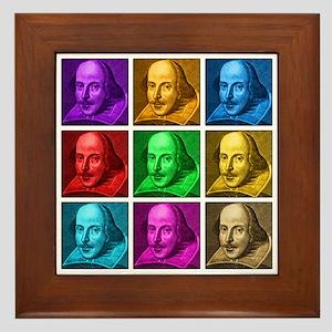 Shakespeare Pop Art Framed Tile
