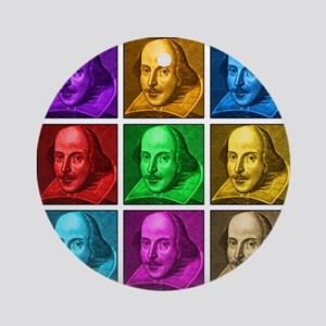 Shakespeare Pop Art Ornament (Round)