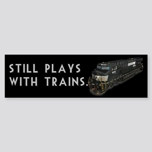 Still Plays With Trains Sticker (Bumper)