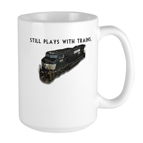 Still Plays With Trains Large Mug