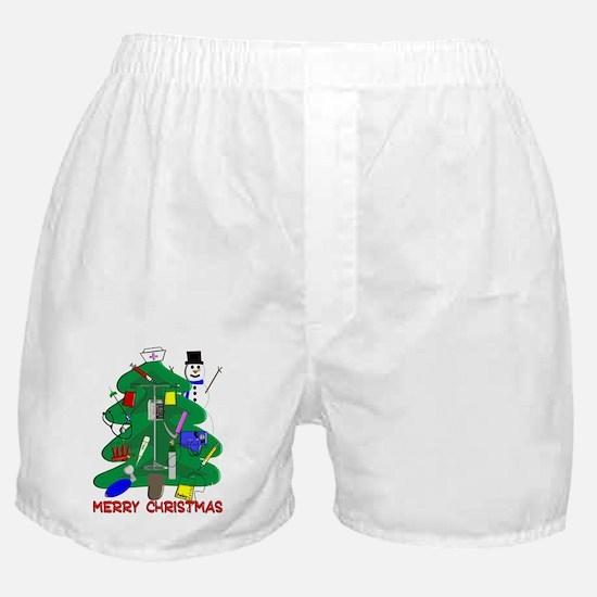 Nurse Christmas Boxer Shorts