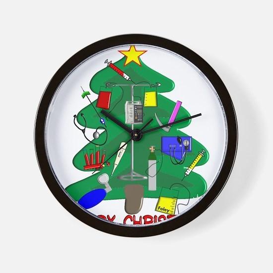 Nurse Christmas Wall Clock