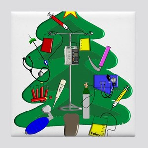 Nurse Christmas Tile Coaster