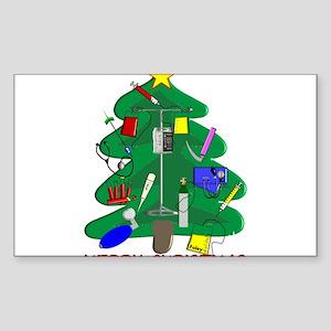 Nurse Christmas Sticker (Rectangle)