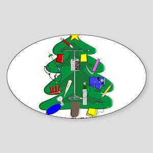 Nurse Christmas Sticker (Oval)