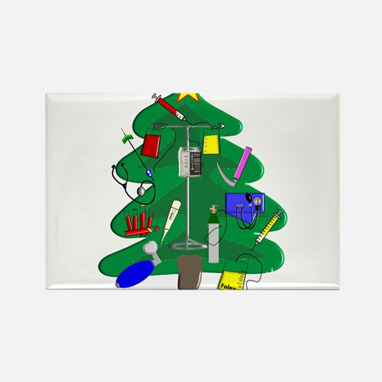 Nurse Christmas Rectangle Magnet