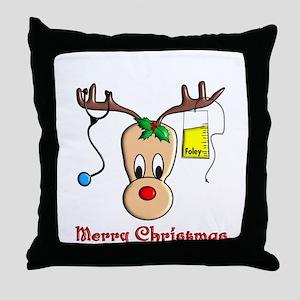 Nurse Christmas Throw Pillow
