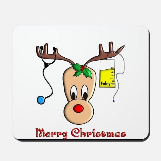 Nurse Christmas Mousepad