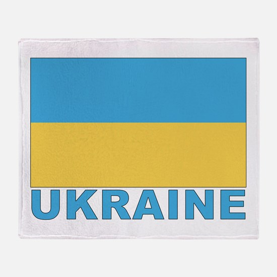 Ukraine World Flag Throw Blanket