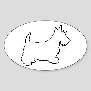 Scottish Terrier - Scottie Sticker-Oval
