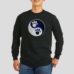 Paw Ying Yang Long Sleeve Dark T-Shirt