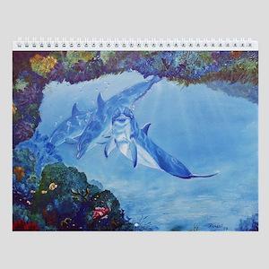 Dolphin Art Wall Calendar