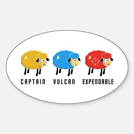 Star Trek Sheep Sticker (Oval)