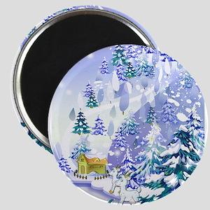 Goat Winter Noel Magnet
