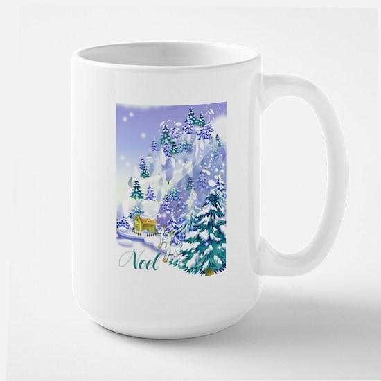 Goat Winter Noel Large Mug