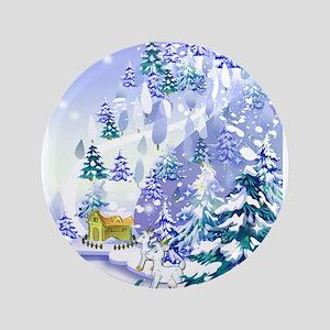 "Goat Winter Noel 3.5"" Button"