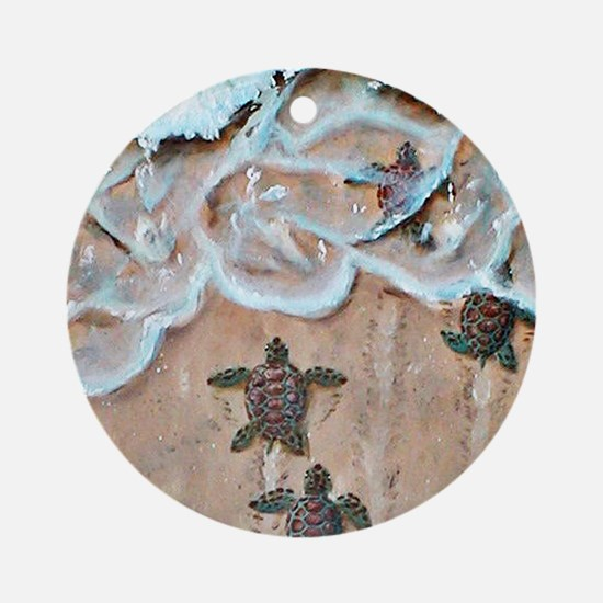 Turtle Hatchlings Ornament (Round)