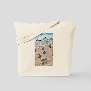 Turtle Hatchlings Tote Bag