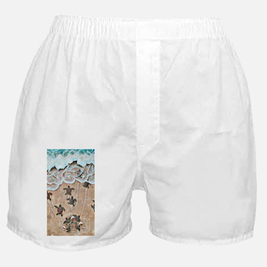 Turtle Hatchlings Boxer Shorts