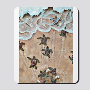 Turtle Hatchlings Mousepad