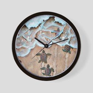 Turtle Hatchlings Wall Clock