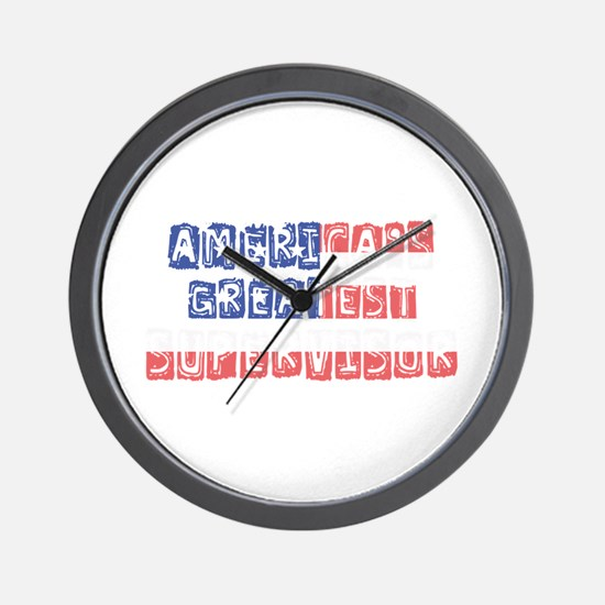 America's Greatest Supervisor Wall Clock