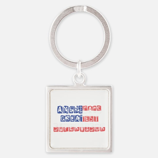America's Greatest Supervisor Keychains