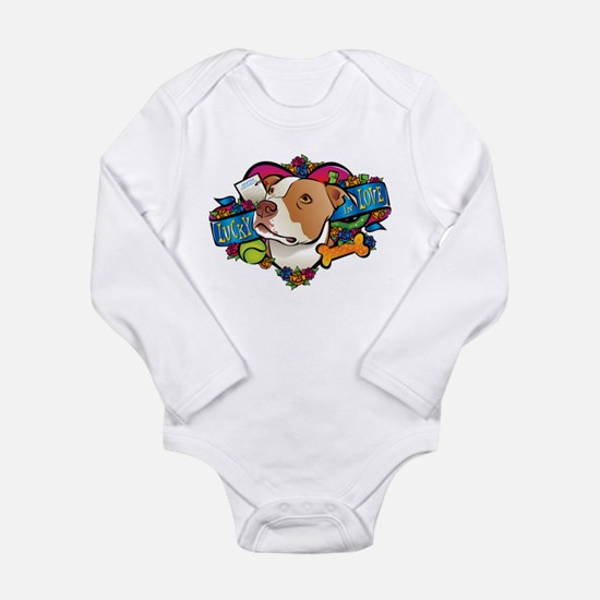 Lucky in Love Long Sleeve Infant Bodysuit