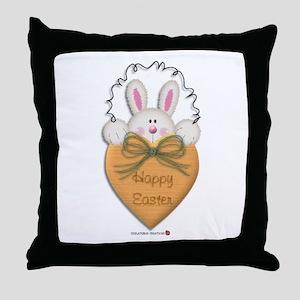 Bunny Heart Throw Pillow