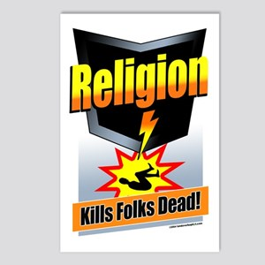 Religion: Kills Folks Dead! Postcards (Package of