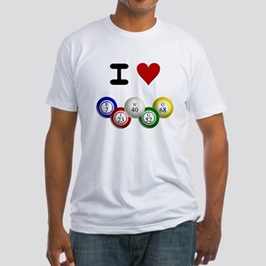 I LUV BINGO Fitted T-Shirt
