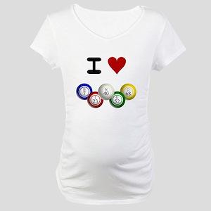 I LUV BINGO Maternity T-Shirt