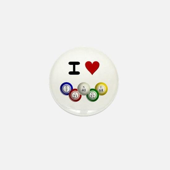 I LUV BINGO Mini Button