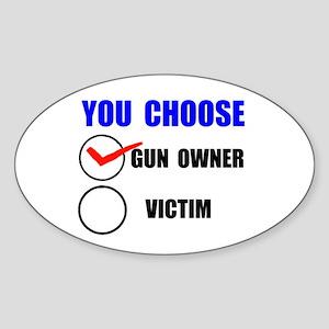 EASY VICTIM Sticker (Oval 10 pk)