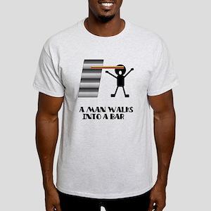 A Man Walks Into A Bar Joke Light T-Shirt