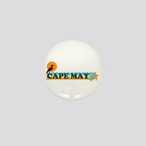 Cape May NJ - Beach Design Mini Button