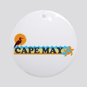 Cape May NJ - Beach Design Ornament (Round)