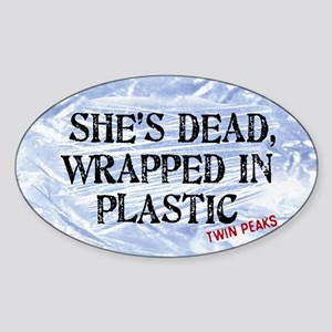 Twin Peaks Wrapped In Plastic Sticker