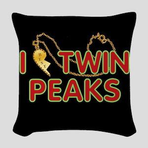 I Love Twin Peaks Woven Throw Pillow